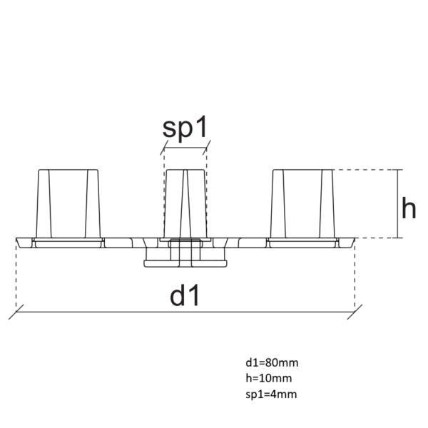 головка под плитку 4 мм чертеж