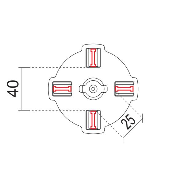 головка под плитку для опор Минимарт, Мегамарт 4 мм схема