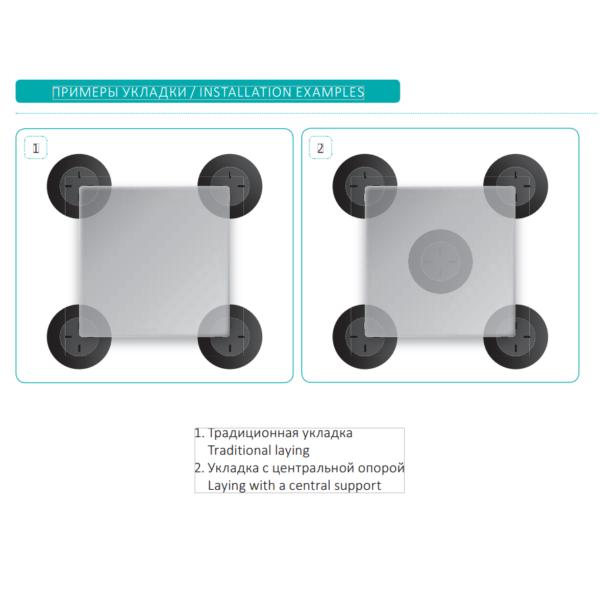 MiniMart укладка плитки на опоры